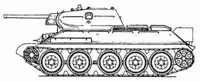 T-34 obr 1941 (Late) (note the armoured Hull MG mount)