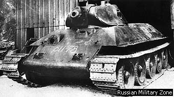A T-34 obr 1940 fresh out of the KhPz factory still waiting on guns