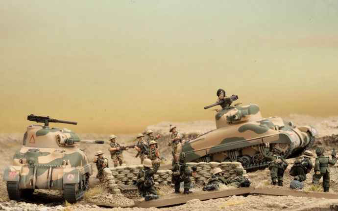 British Shermans In The Desert
