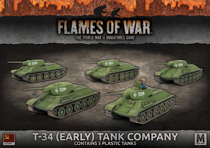 T-34 (Early) Tank Company (Plastic) (SBX39)