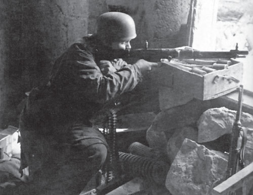 German Fallschirmjäger steadfast in defence
