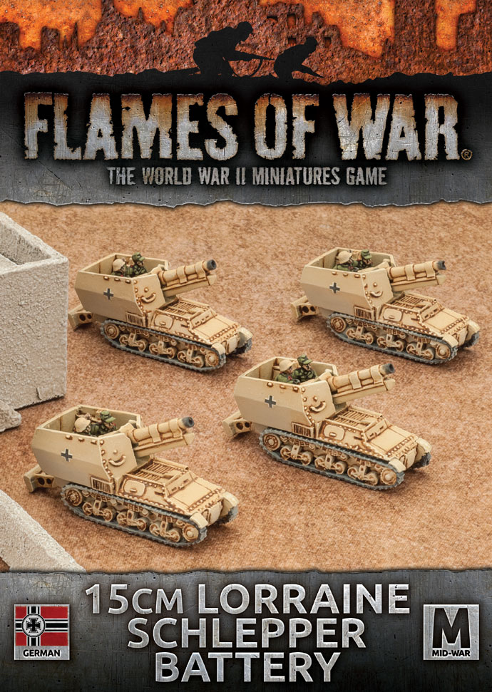 Plastic Afrika Korps 10.5cm Artillery Battery Flames of War