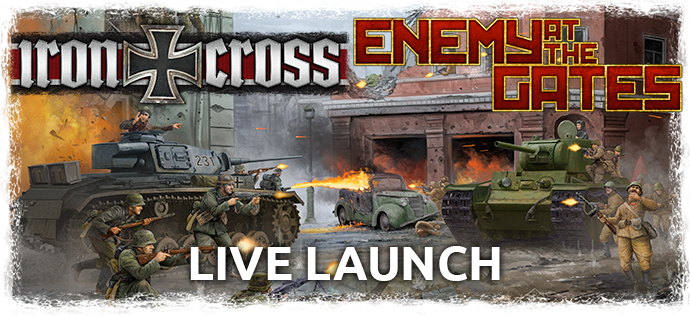 Iron Cross and Enemy at the Gates Live Launch