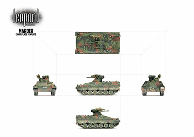 NATO 3 Colour Painting Templates